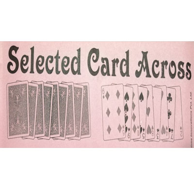 SELECTED CARD ACROSS